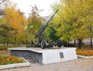 Красноармейская площадь. Пушка
